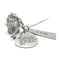 NECKLACES ENGRAVED with  INSPIRATIONAL QUOTATIONS