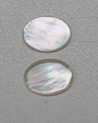 1pc White MOP cabochon rounded edge 15x20x2.5mm