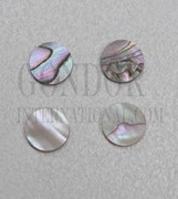 1pc Red abalone dots 10x1.5mm