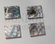 1pc Green abalone blanks 25x30x1.3mm
