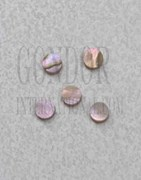 1pc Red abalone dots 2x1.3mm