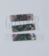 1pc Green abalone blanks 8x30x1mm