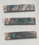 1pc Green abalone blanks 9x42x1mm