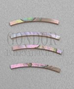 1pc Red abalone strips curved 2.5x25x1.3x125mm