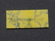 1pc Yellow Stone reconstituted stone 30 x 70 x 1.5mm