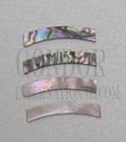 1pc Red abalone strips curved 9.52x25x1.3x120mm