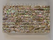 1pc Green abalone dark laminated sheet 135x235x1.3mm