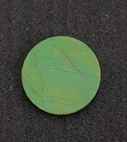1pc Turquoise green CH2C2 reconstituted stone discs polished 19.5x1.5mm