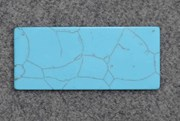 1pc Turquoise CH1G4 reconstituted stone blanks 30x70x1.5mm