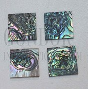 1pc Green abalone blanks heart 25x25x1.5mm