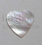 1pc White MOP polished heart cabochons 30x33x2.5mm