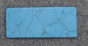 1pc Turquoise CH2A6 reconstituted stone blanks 30x70x1.5mm