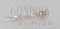 1pc Mother of Pearl elephant forks white 91mm