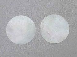 1pc White MOP discs 40.1x0.4mm