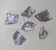 1oz Pink abalone blanks mix size 1mm