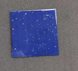 1pc Blue Goldflake stone J08 reconstituted stone blanks 50x50x1.5mm