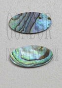 1pc Paua oval blanks 7.3x9.2x1.5mm