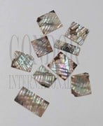 1oz Green abalone blanks rippled mix size 1.3mm