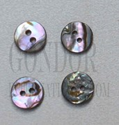 1pc Green abalone buttons 2H 18Lx2mm