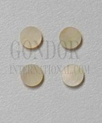 1pc Gold MOP dots 4 x 1.3mm
