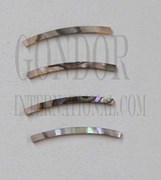 1pc Green abalone strips curved 1.6x25x1.3x125mm
