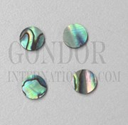 1pc Paua dots 12.7mm (1/2