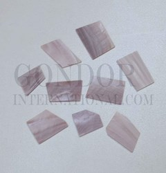 1oz Pink Mussel blanks mix size 1mm
