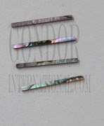 1pc Green abalone strips straight 3.17x25x1.3mm