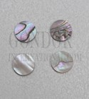 1pc Red abalone dots 9x1.5mm