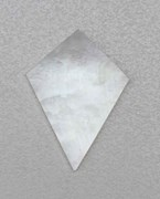 1pc White MOP diamonds 25x35.5x1.5mm
