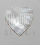 1pc White MOP inlay heart 49x50x2mm