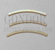 1pc Gold MOP strips curved 2.5x25x1.3x160mm