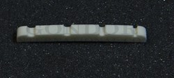 1pc Jazz bass nut white bone slotted