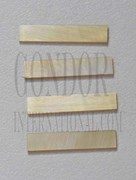 1pc Gold MOP strips straight 3.17x25x1.3mm