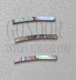 1pc Pink abalone strips curved 1.5x24x1.3x125mm