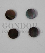 1pc Black MOP dots 5.5x1.3mm