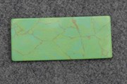 1pc Turquoise green CH2C2 reconstituted stone blanks polished 30x70x1.5mm
