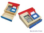 Fun Factory Wooden Cash Register w/Calculator