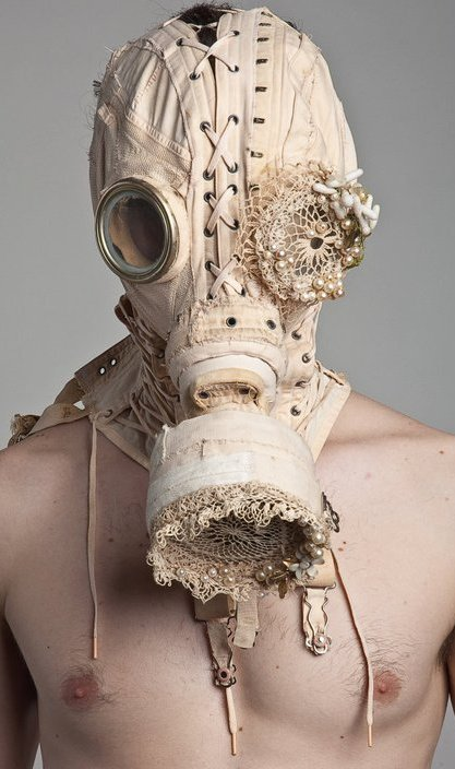 Bondage steampunk art - the handcrafted gas mask