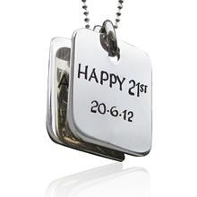 Small Dog Tags with fine ball chain
