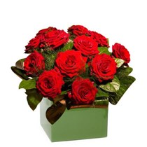 12 Red Rose Arrangement