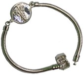 Sterling Silver Diabetes Identification Bracelet