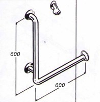 Shower rail 32mm stainless type 017a