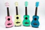 Makala MK-SS Soprano Shark Ukulele - Assorted Colours!