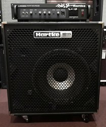BILLY SHEEHAN USED AND SIGNED HARTKE BASS RIG