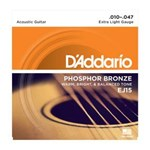 D'ADDARIO PB ACOUSTIC STRINGS 10-47