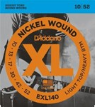 D'ADDARIO XL NICKEL WOUND ELECTRIC STRINGS 10-52