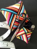 STRIPED PIN CUSHION & SCISSOR FOB - Designatus