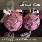 LAUREL LEAVES FELT ORNAMENT - Designatus Designs