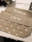 FRENCH LINEN COSMETIC BAG - LARGE - JBW DESIGNS by Judy Whitman